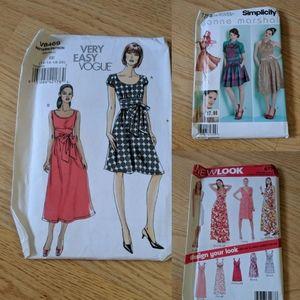 Dress sewing pattern bundle, vogue,simplicity, etc